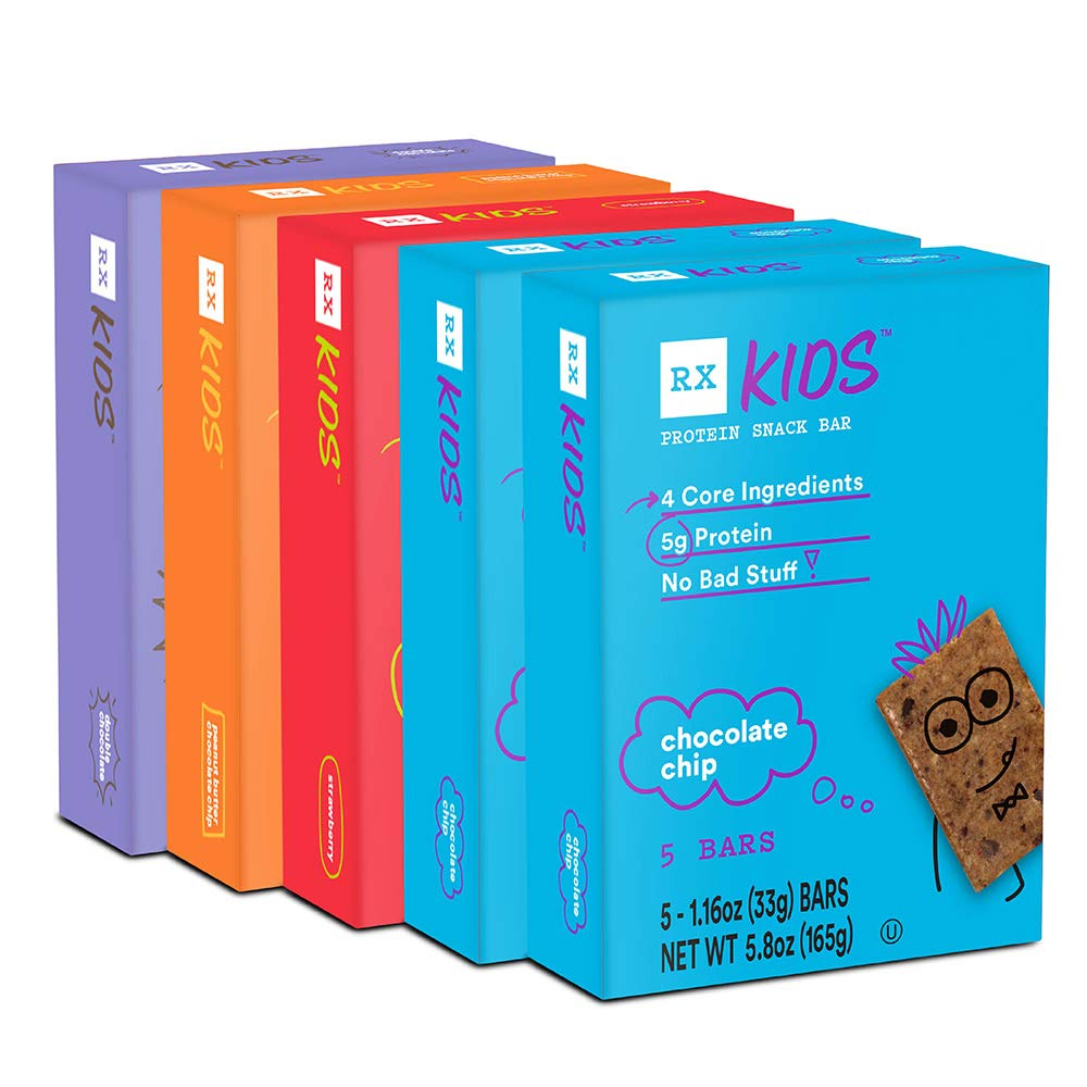 RXBAR, RX Kids Protein Snack Bar, Variety Pack, 1.16oz Bars, 25ct, New Taste and Texture