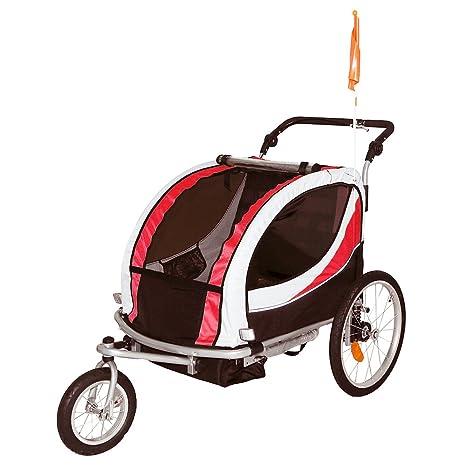 Tráiler de bicicleta para niños y cochecito de correr, color rojo ...