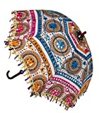 Home Decorative Handicrafts Items handicrafts decorative arts & crafts Jaipuri Elephant Print Handmade Embroidery Work Wedding Umbrella