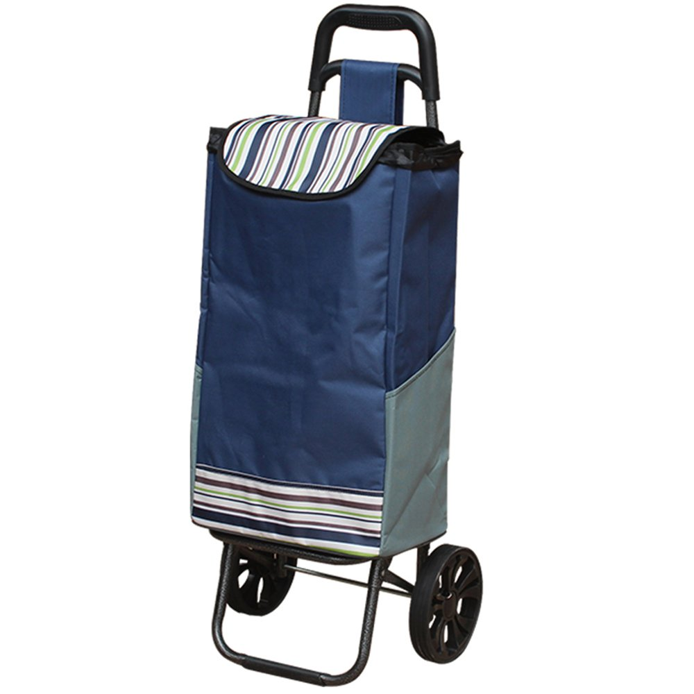 LUJIAN スーパーマーケットのショッピングカート、車を買う、折りたたみ式折りたたみトレーラー、荷物カート、旅行 LUJIAN (色 : B) B07KYK75H7 B