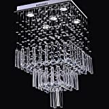 LightInTheBox Modern Luxury 50W Crystal Chandelier with 5 Lights in Square Shape Ceiling Lighting Fixture 110-120V