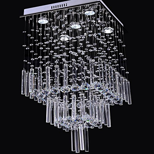 LightInTheBox Modern Luxury 50W Crystal Chandelier with 5 Lights in Square Shape Ceiling Lighting Fixture 110-120V by LightInTheBox (Image #1)