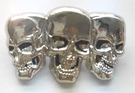Pin de Metal Cromado Tres Calaveras Trio Patinete Trucker ...
