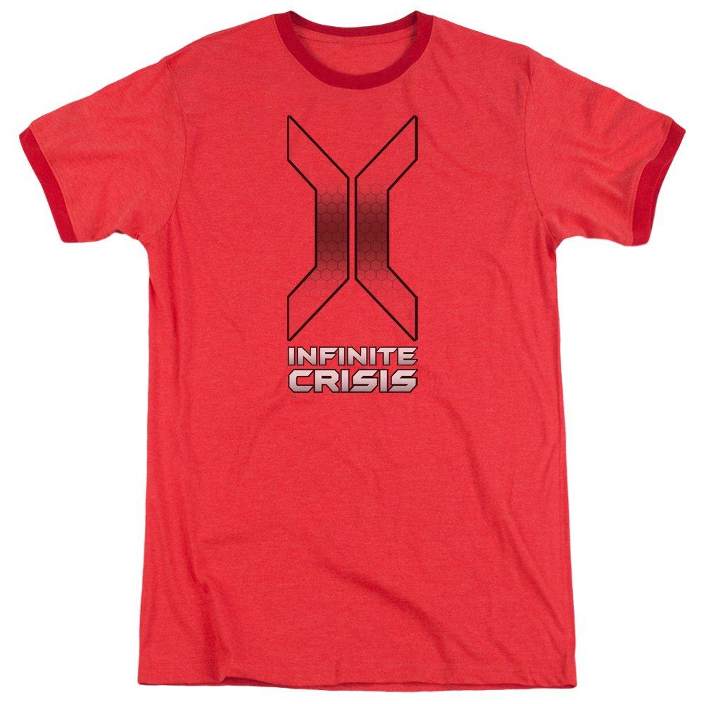 MMM Merchandising Infinite Crisis Mens Title Ringer T-Shirt