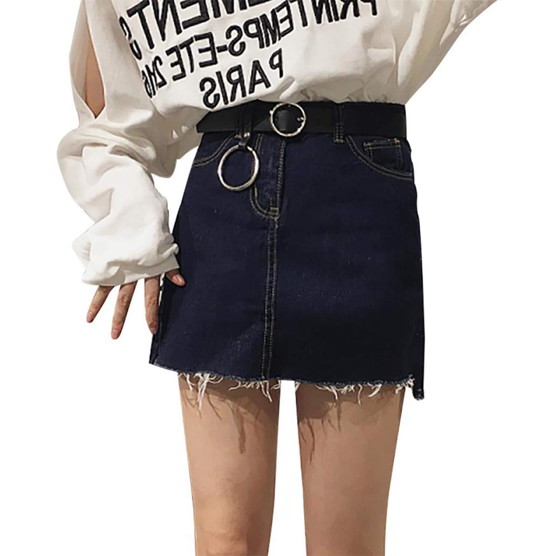 d8109e7d350 KKAHQA Hot Sale Triangle Round Buckle Belts Female HOT Leisure Jeans Wild  Belt Metal Buckle Black Strap Belt For Women A  Amazon.ca  Luggage   Bags