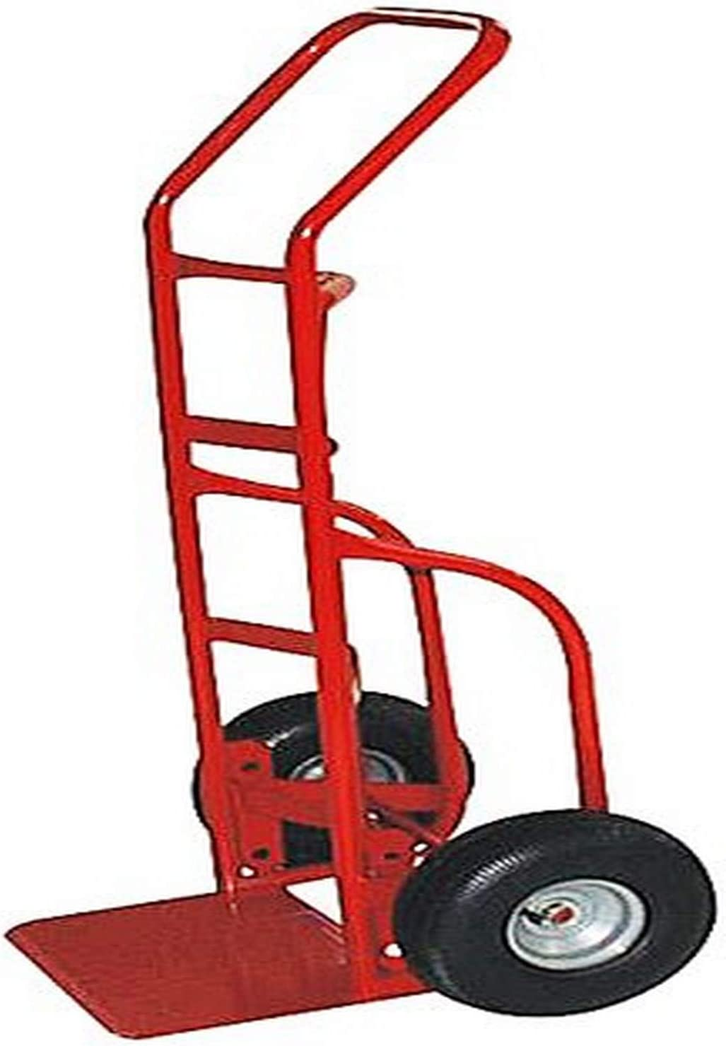 Milwaukee Hand Trucks 33012 Heavy Duty Flow Back Handle Truck with 10-Inch Pneumatic Tires