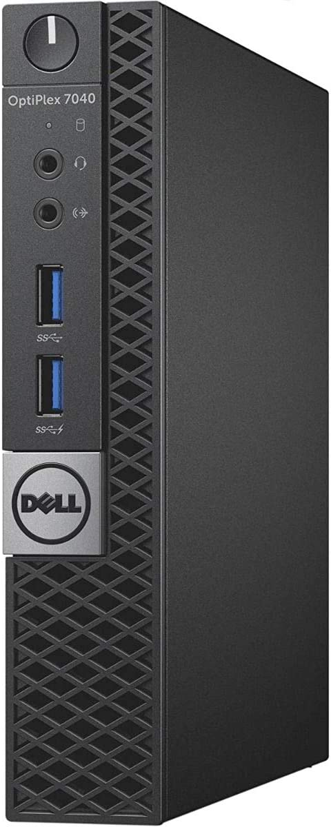 Dell Optiplex 7040 Micro Form Factor Desktop, Intel Quad Core i5 6500T 2.5Ghz, 8GB DDR4, 256GB NVMe SSD, Wi-Fi, HDMI, Windows 10 Pro (Renewed)
