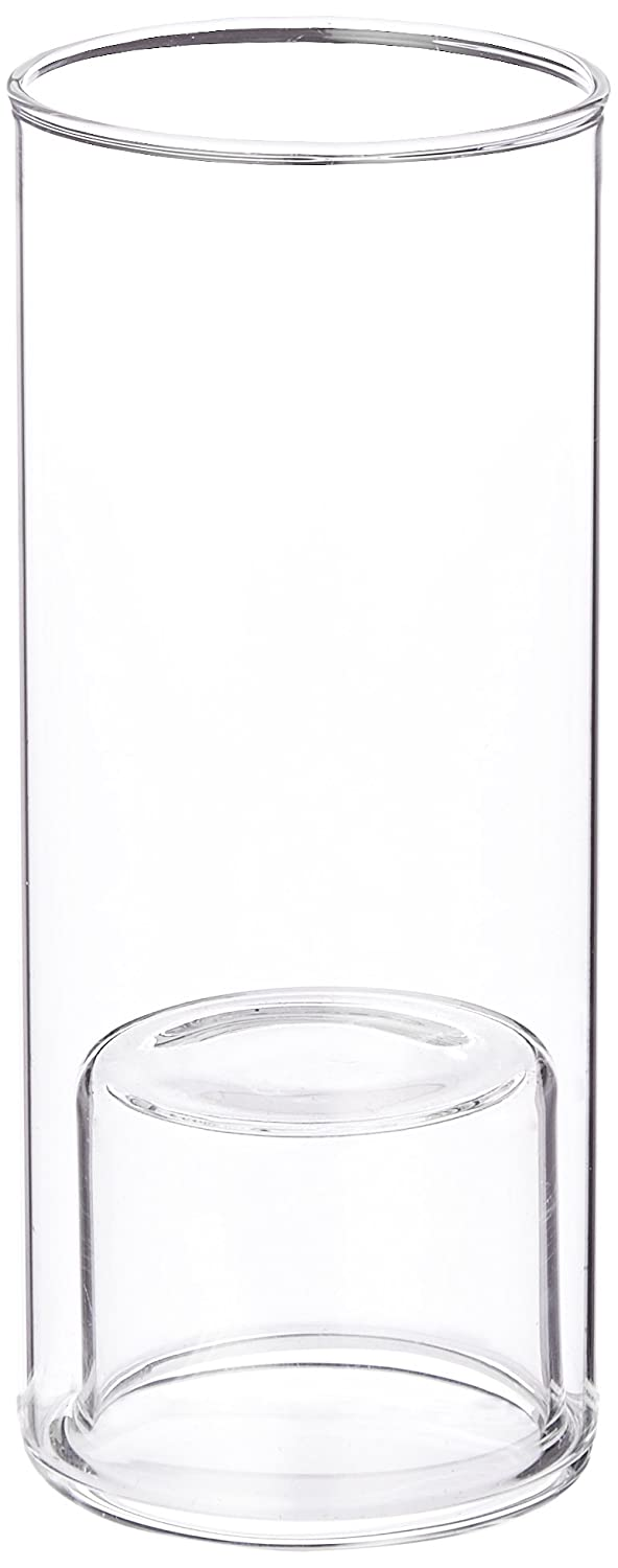WGV Cylinder Raised Votive Candle Holder, 2,3 by 6-Inch, Clear VCH0206