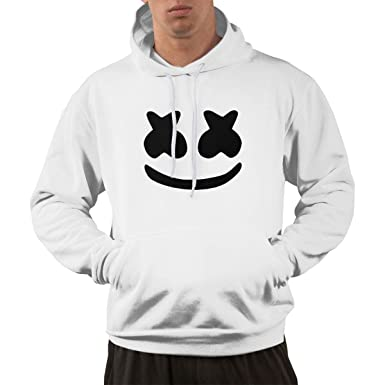 12464a264becf Amazon.com: Kings Are Born Cool Marshmello Face Men's Women's Hoodies  Sweatshirts White Unisex XXXL: Clothing