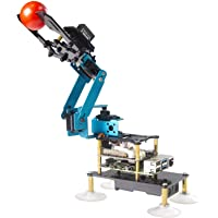 Adeept RaspArm-S 4-DOF Robot Arm 4 Axis Robotic Arm Kit for Raspberry Pi 4 3B 3B+   Programmable Robot DIY Coding Robot…