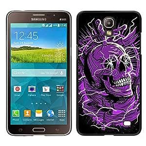 """For Samsung Galaxy Mega 2 Case , Cráneo púrpura Negro Muerte eléctrico Dead"""" - Diseño Patrón Teléfono Caso Cubierta Case Bumper Duro Protección Case Cover Funda"""