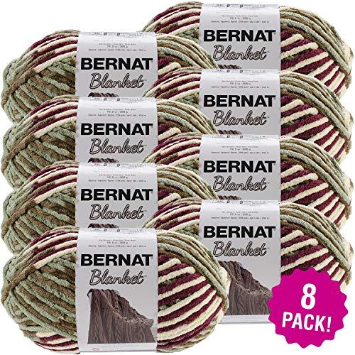 Bernat 99650 Blanket Big Ball Yarn-Plum Fields, Multipack of 8, Pack by Bernat (Image #1)