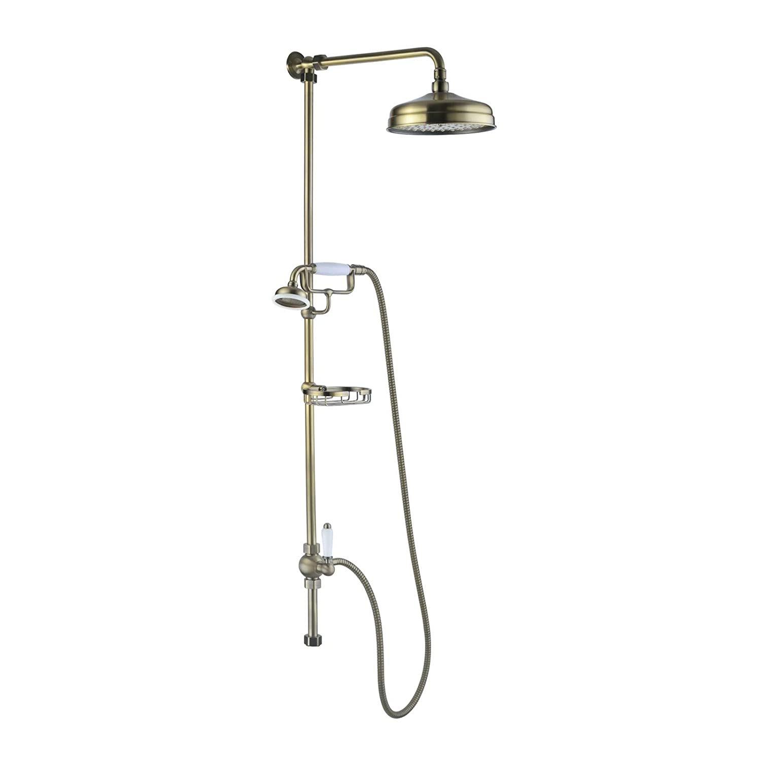 Victoria traditional shower riser rail kit 2 outlet soap dish ...