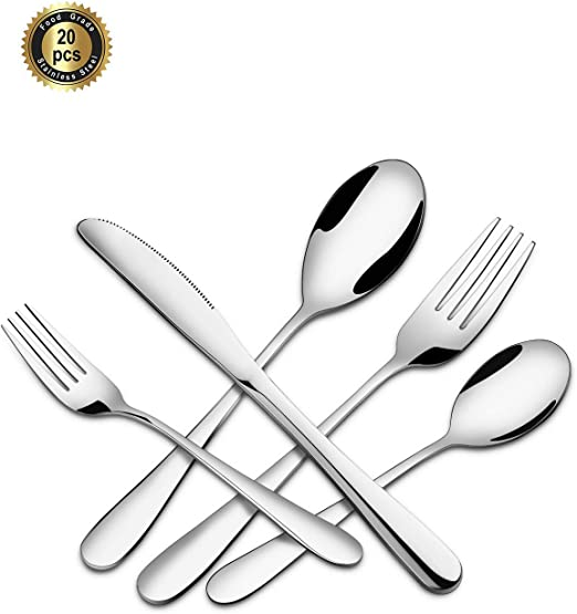 Silverware Set, 20 Pcs. Stainless Stell