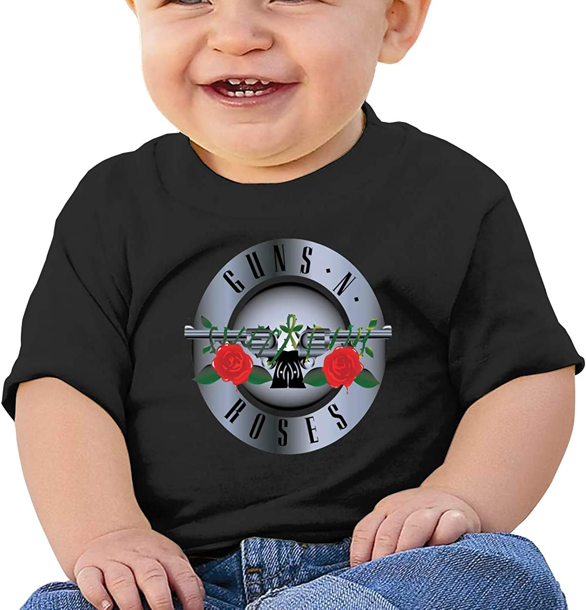 Takeyia Guns N Roses Logo Tee Comfortable Baby T-Shirts Black