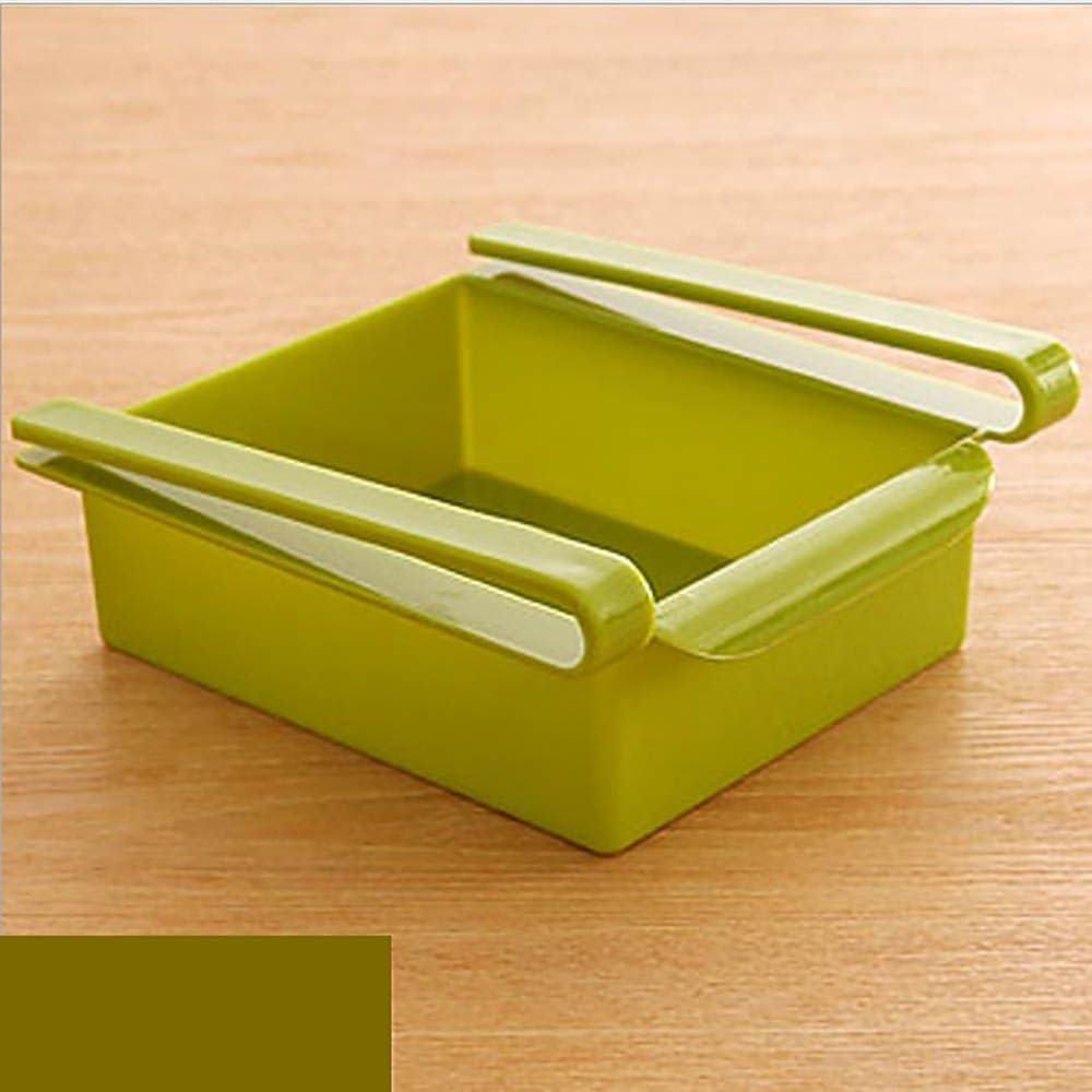 VANKER Dise/ño Frigor/ífico Frutas Huevos Leche Soporte Organizador Soporte para Colgar-Verde