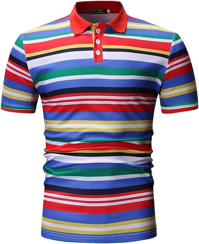 SWISSWELL Camisa Polo a Rayas Camiseta de Manga Corta Hombre Color ...