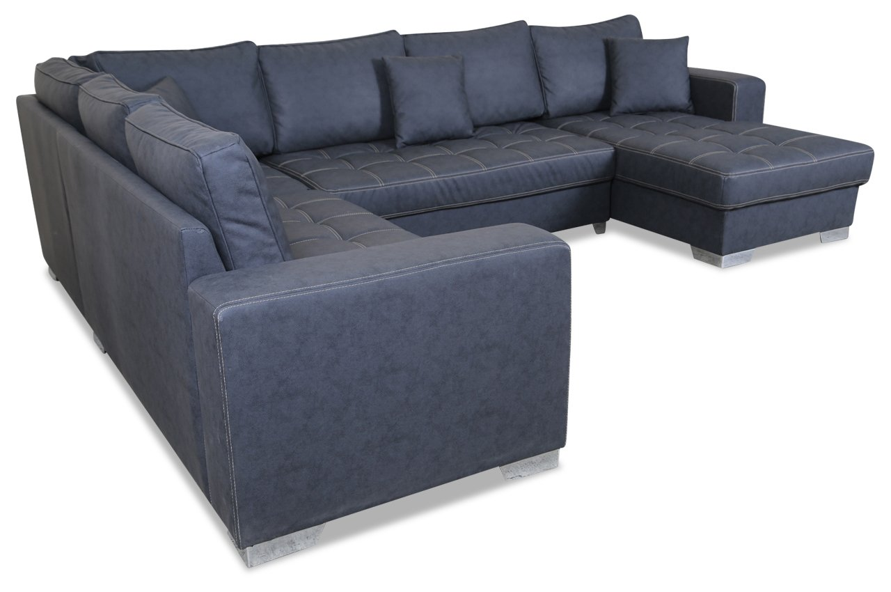 Sofa Couch Wohnlandschaft Arles Anthrazit Mit Federkern Amazon De