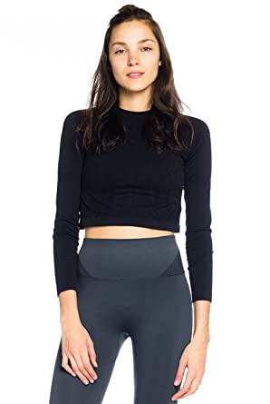 b56a339e36 Climawear Liberty Crop Top Womens Active Workout at Amazon Women s Clothing  store