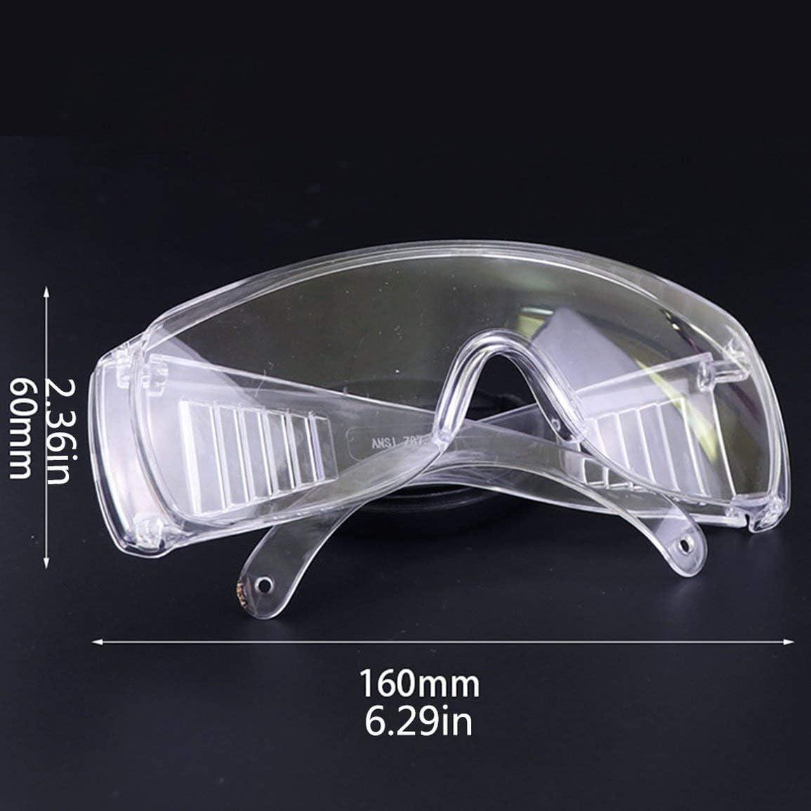 Kurphy Vaccine Shutter Goggles Kunststoff Staubdicht und Atmungsaktiv Sicherheitsbrille Transparente Schutzbrille 1 St/ück