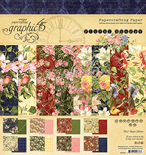 Graphic 45 Floral Shoppe 8x8 Pad (4501697) by Graphic 45