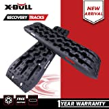 X-BULL New Recovery Traction Tracks Sand Mud Snow Track Tire Ladder 4WD (Black, 3Gen)