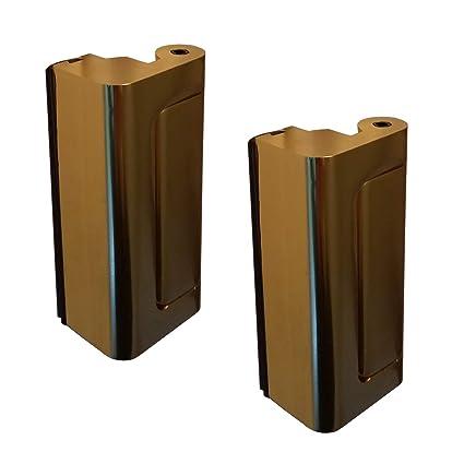 2 x Puerta Viper Cerradura de latón - 12 x más fuerte que un perno muerto