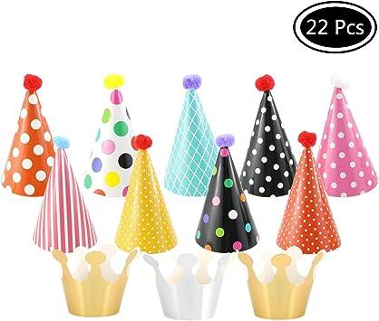 Amazon.com: Faxco 2 juegos de 22 sombreros de fiesta ...