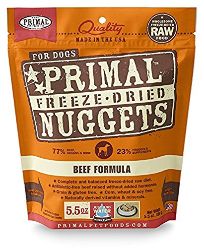 - Primal Pet Foods Freeze-Dried Canine Beef Formula 5.5 Oz