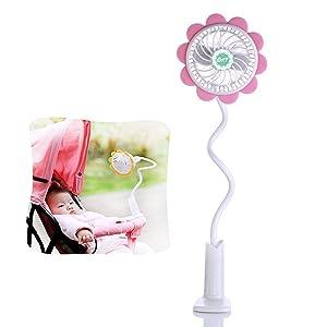 Portable Clip on Mini USB Fan Baby Stroller Fan Bed Pushchair Flexible USB Fan Desktop Personal PC Laptop Fan Electric Battery Fan
