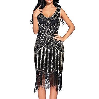 Mamum Frau Party-Nacht Saum Klappenkleid Kleid: Amazon.de: Bekleidung