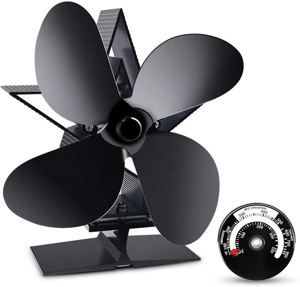 Heat Powered Stove Fan, ZOTO Fireplace Fan with Silent Motor for Wood Log Burner, Stove. NEW VERSION
