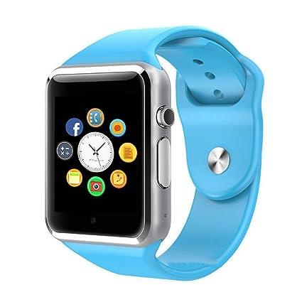 CulturesIn Smart Reloj, Pantalla táctil Bluetooth Reloj de Pulsera con cámara/Ranura de Tarjeta SIM/Podómetro de análisis para Android (Completamente ...