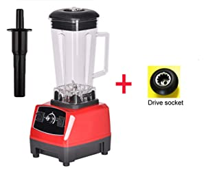 2200W 2L commercial grade home professional smoothies power blender food mixer juicer food fruit processor,RED EXTRA DRIVER,US Plug