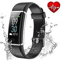 Showyoo Fitness Tracker, Color Screen Activity Tracker Heart Rate Monitor, IP68 Waterproof Sports Watch Pedometer, Sleep Monitor, Step Counter, Smartwatch Women Men Kids
