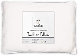 """Wool Toddler Pillow, All Natural Kids Pillow, Machine Washable, Oeko TEX 100 Certified, 14""""x19"""""""