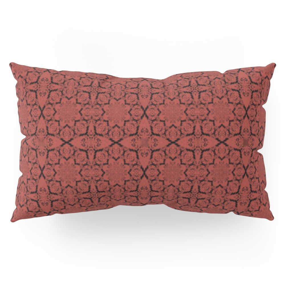 Society6 Aurora Red Geometric Pillow Sham King (20'' x 36'') Set of 2