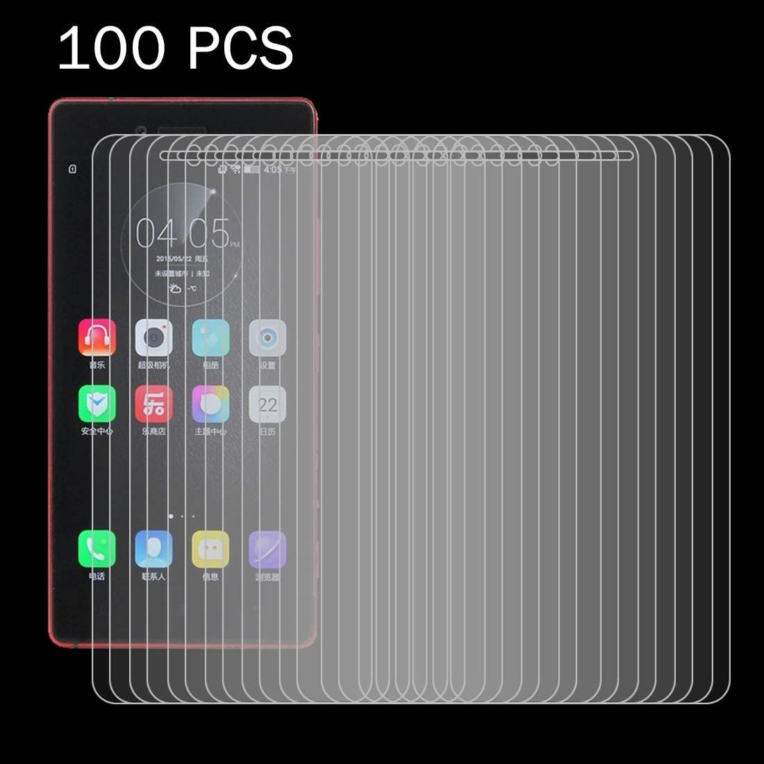 Dongdexiu Cell Phone Screen Protectors 100 PCS for Lenovo Vibe Shot 0.26mm 9H Surface Hardness 2.5D Explosion-Proof Tempered Glass Film