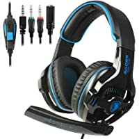 PS4 Xbox One Gaming Auriculares de 3,5 mm cableado Over-Ear Ruido de Aislamiento de Control de Volumen de micrófono para…