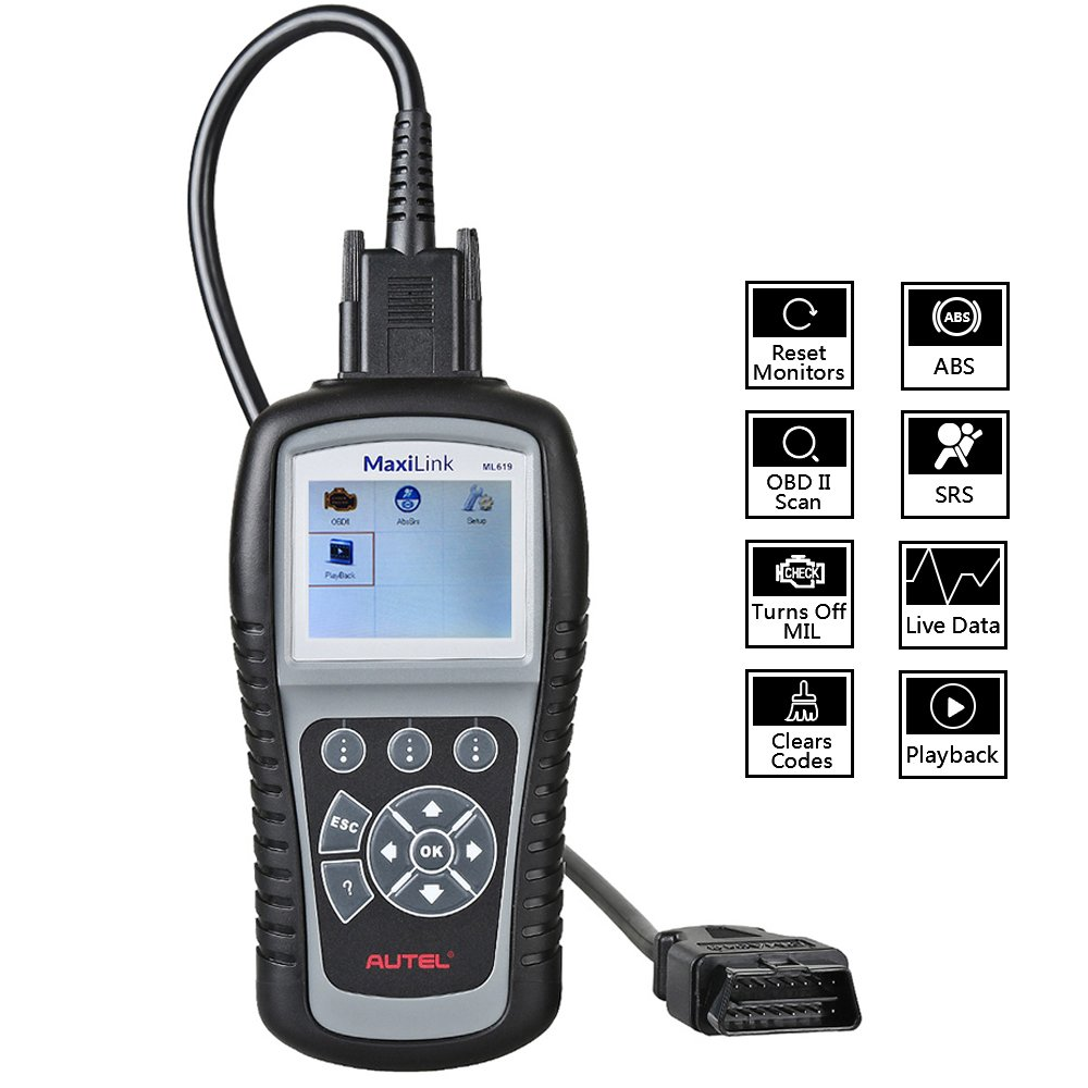 Air Bag Scan Tools & Simulators The Best Autel Maxilink Ml619 Car Obd2 Scanner Abs Airbag Srs Scanner Auto Diagnostic Scan Tool Obd 2 Code Reader Tools Pk Autolink Al619