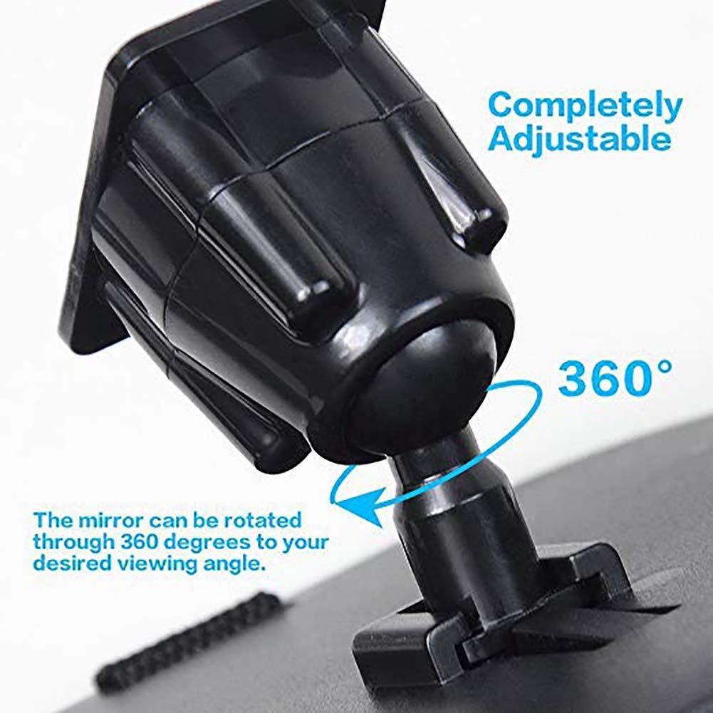 Negro Espejo Retrovisor de Beb/é Espejo Beb/é Coche 360/° Ajustable Irrompible Inastillable Interior Espejo para Vigilar al Beb/é en el Asiento trasero de Coche