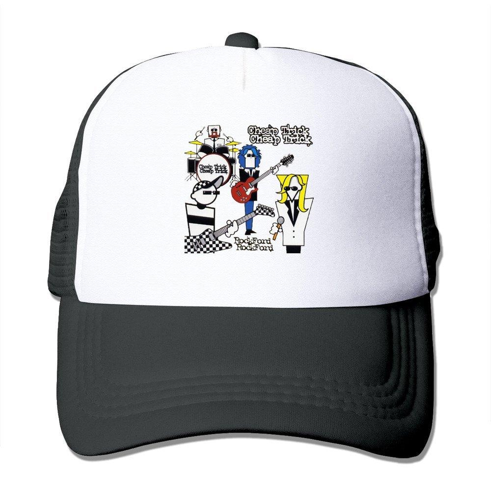 b0a1bddf083db3 Funny Cheap Trick Logo Baseball Cap Trucker Hat For Male/Female Adjustable  100% Nylon Black: Amazon.com: Books