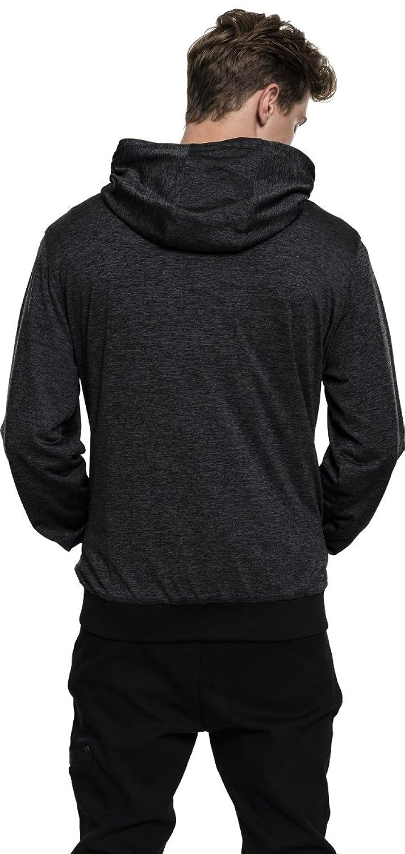 Mens Light Training Jacket, Chaqueta Deportiva para Hombre, Mehrfarbig (Charcoal/Black 1166), Medium Urban Classics