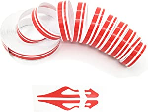 ZATOOTO Red Pinstripe Tape for Car - DIY Vinyl Pin Striping Decals Auto Waterproof Pin Stripe Tape Emblems Trim Universal for Automobile Musical Instrument Home Door etc