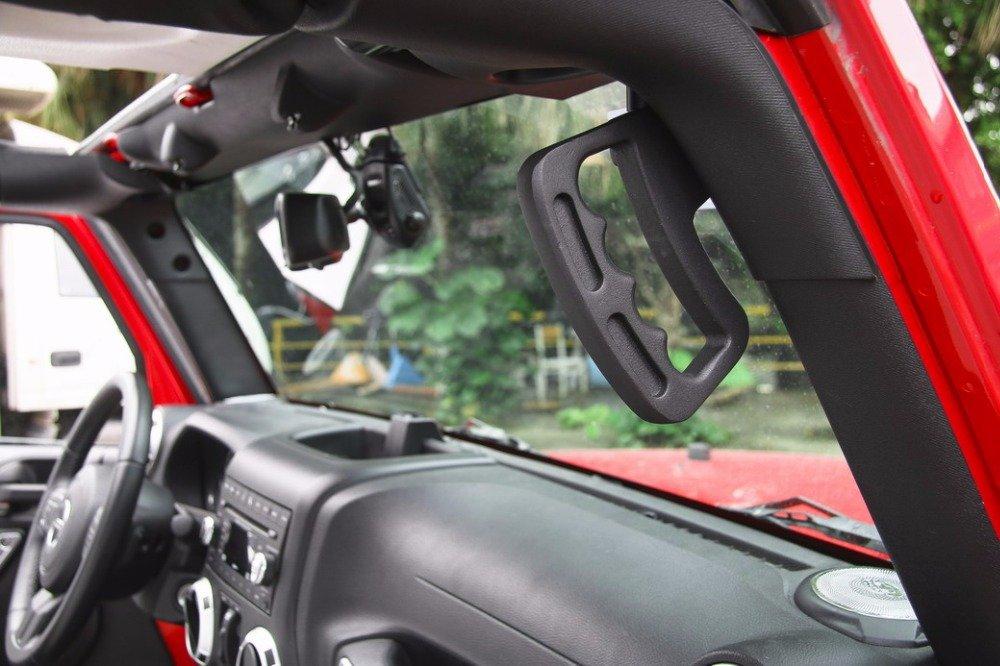 Highitem Newest Hard Top Mount Hardtop Grab Handle Bar Front Rear Interior Parts Metal For Jeep Wrangler jk 2007 Up by Highitem