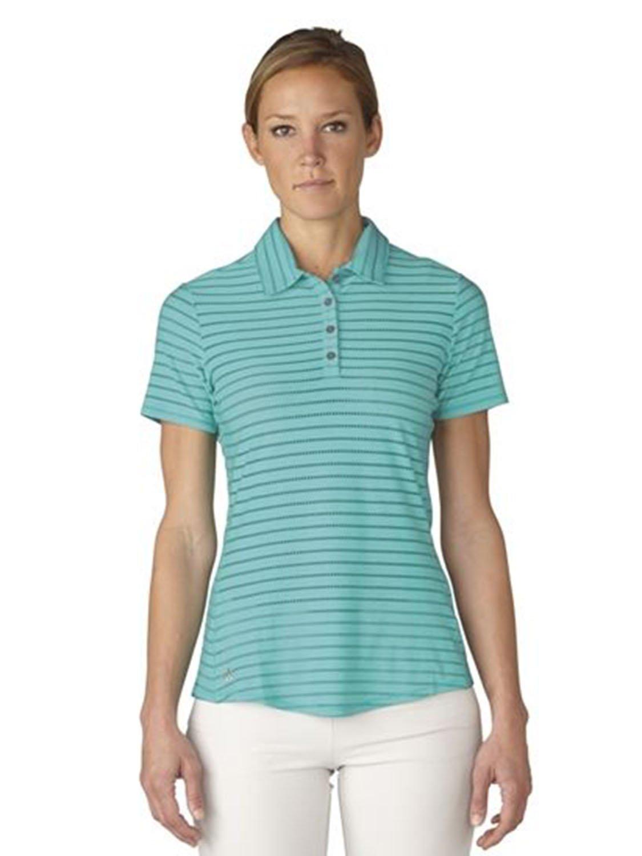 adidas Golf Mujer Cottonhand Polo de Rayas: Amazon.es: Deportes y ...