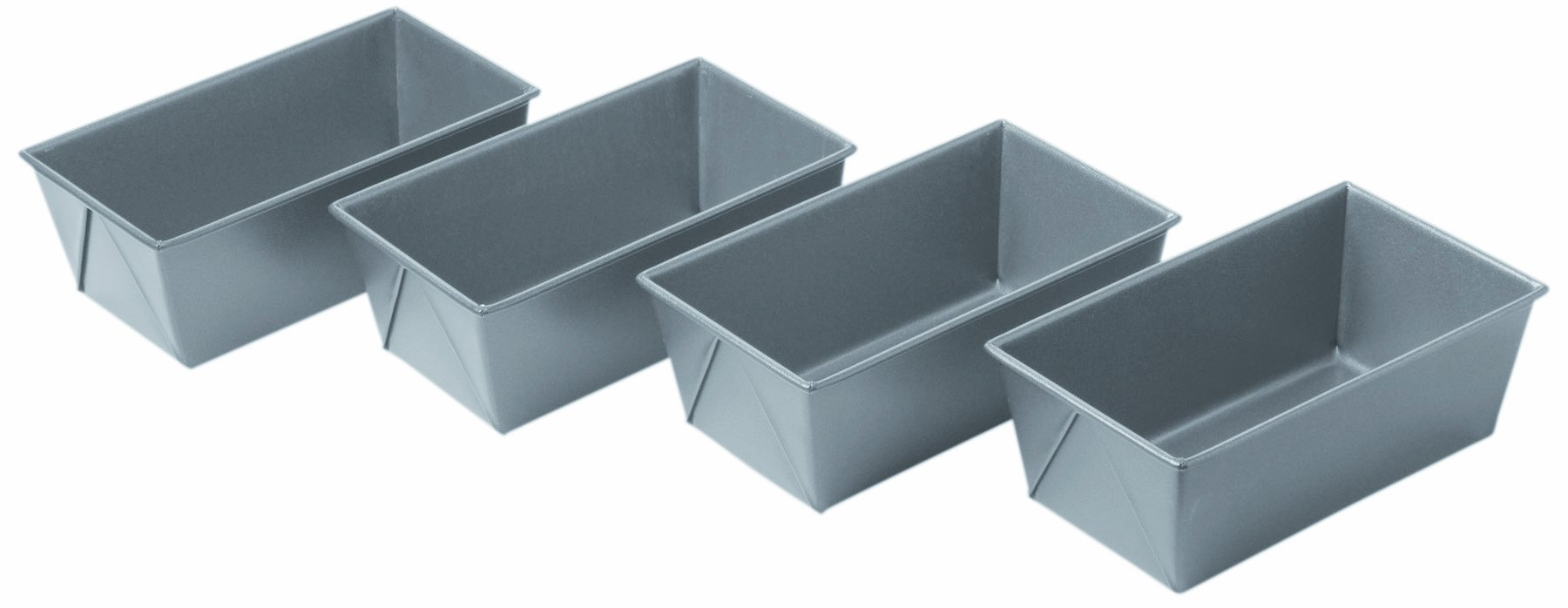 Chicago Metallic Commercial II Non-Stick Mini Loaf Pans, Set of 4