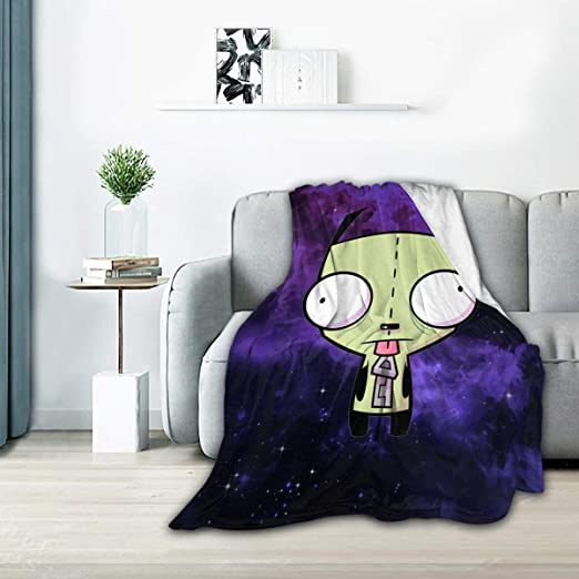 Classic-Invader-Zim-Gir Flannel Blanket Super Soft Hypoallergenic Plush Bed Couch Living Room 60