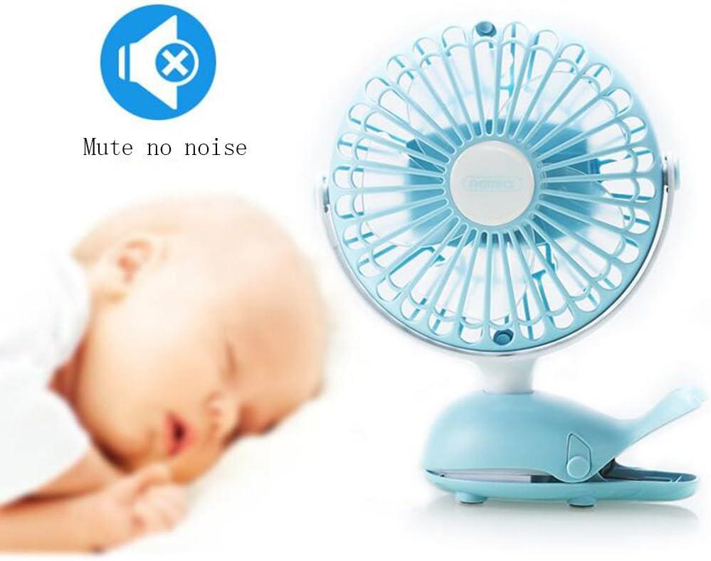 BNSDMM Mini Fan Mini Rechargeable Baby Stroller Baby Clip Bed Student Dormitory Portable Fan USB Fan Blackout Available Desktop Fan Clip-on Fan Two Uses Optional Color Color : Green