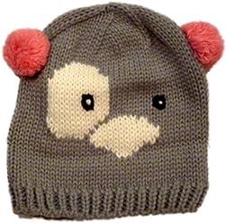 38345784153 Kid Connection Girl Hand Knit Koala Bear Beanie Winter Hat Stocking Cap Pom  7-14